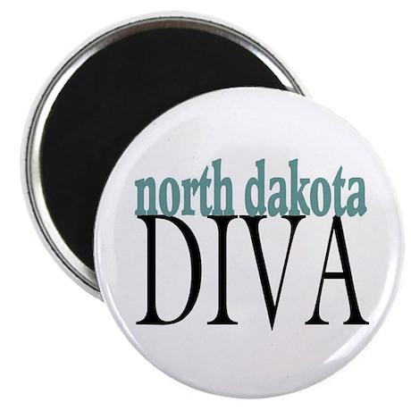 "North Dakota Diva 2.25"" Magnet (100 pack)"