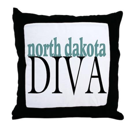 North Dakota Diva Throw Pillow