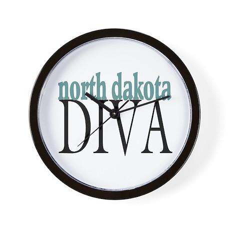 North Dakota Diva Wall Clock