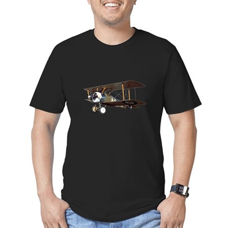 Camel Biplane Fighter Men's Fitted T-Shirt (dark)