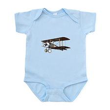 Camel Biplane Fighter Infant Bodysuit