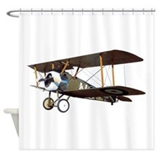 Camel Biplane Fighter Shower Curtain