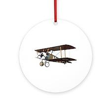 Camel Biplane Fighter Ornament (Round)