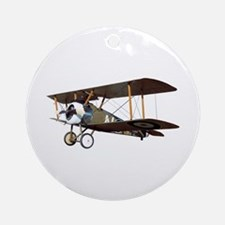 Camel Biplane Fighter Ornament (Round)