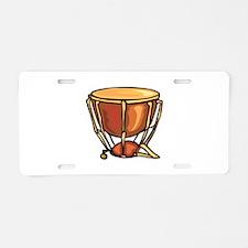 tympani drum percussion design Aluminum License Pl