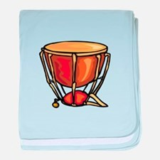 tympani drum percussion design baby blanket
