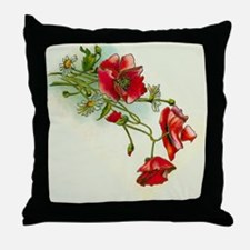 Beautiful Red Flowers Throw Pillow