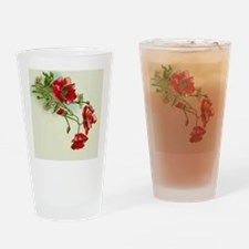 Beautiful Red Flowers Drinking Glass