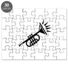 trumpet simple abstract black Puzzle