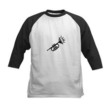 trumpet simple abstract black Baseball Jersey