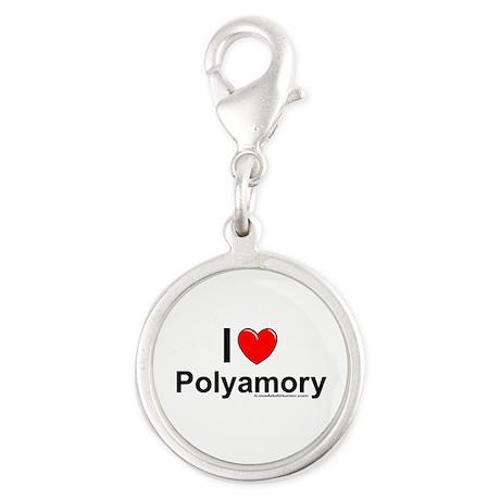 Polyamory Silver Round Charm