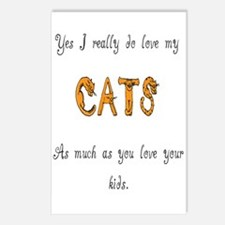 I really do love my cats Postcards (Package of 8)