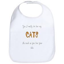 I really do love my cats Bib