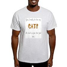 I really do love my cats Ash Grey T-Shirt