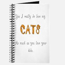I really do love my cats Journal