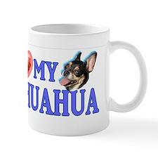 I love my Chihuahua Very Fun Bumpersticker. Mugs