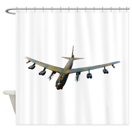 B 52 Stratofortress Bomber Shower Curtain