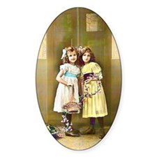 1920s Little Girls Portrait Decal