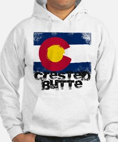 Crested Butte Grunge Flag Hoodie
