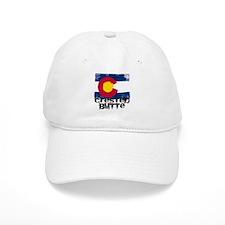 Crested Butte Grunge Flag Baseball Cap