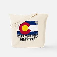 Crested Butte Grunge Flag Tote Bag