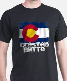 Crested Butte Grunge Flag T-Shirt