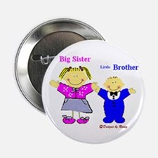 Big Sister and Little Brother Button