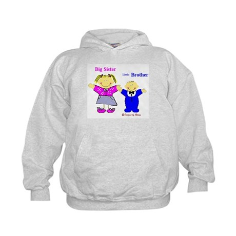 Big Sister and Little Brother Kids Hoodie