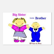 Big Sister and Little Brother Postcards (Package o