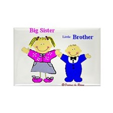 Big Sister and Little Brother Rectangle Magnet (10