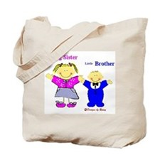Big Sister and Little Brother Tote Bag