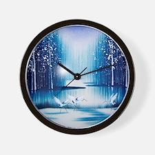 Vintage Oriental Landscape Wall Clock