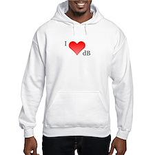 I Love dB Hoodie