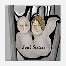 Soul Sisters Angels Tile Coaster