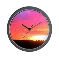 My Perfect Sunset Cat Forsley Designs Wall Clock