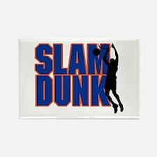 Slam Dunk Basketball Rectangle Magnet
