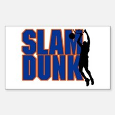 Slam Dunk Basketball Rectangle Decal