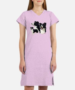 Unique Border collie Women's Nightshirt