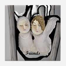 Angel Friends  Tile Coaster