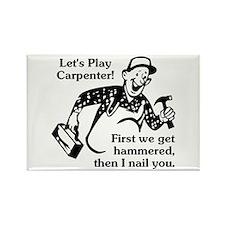 Let's Play Carpenter Rectangle Magnet
