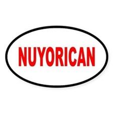 NUYORICAN... Oval Decal