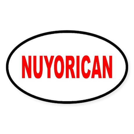 NUYORICAN... Oval Sticker