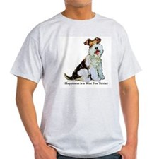 Fox Terrier Happiness Ash Grey T-Shirt