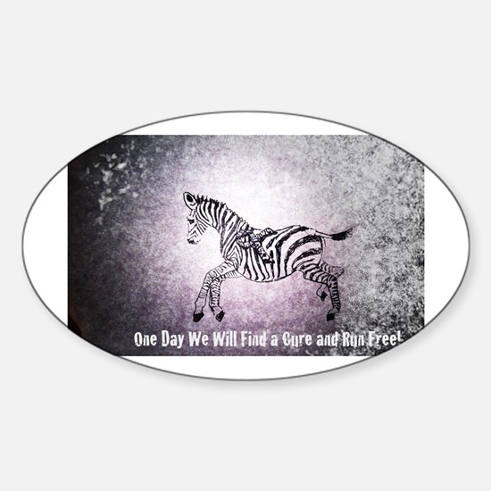 Ribbon Zebra Decal