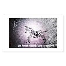 Ribbon Zebra Decal