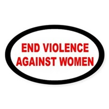 END VIOLENCE... Oval Decal