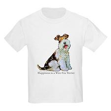 Fox Terrier Happiness Kids T-Shirt