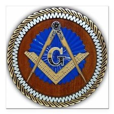 "masons Square Car Magnet 3"" x 3"""