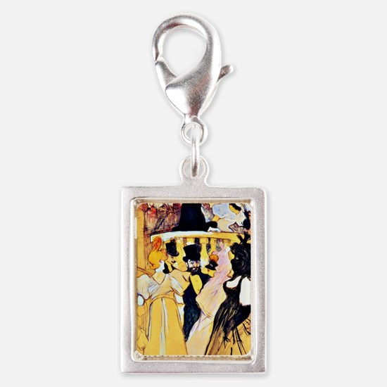 Toulouse-Lautrec: At the Ope Silver Portrait Charm
