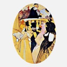 Toulouse-Lautrec: At the Opera Oval Ornament